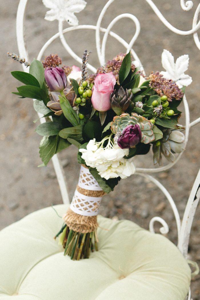 Bouquet Folk Wedding Inspiration In Asheville Krista Lajara Photography | Via MountainsideBride.com