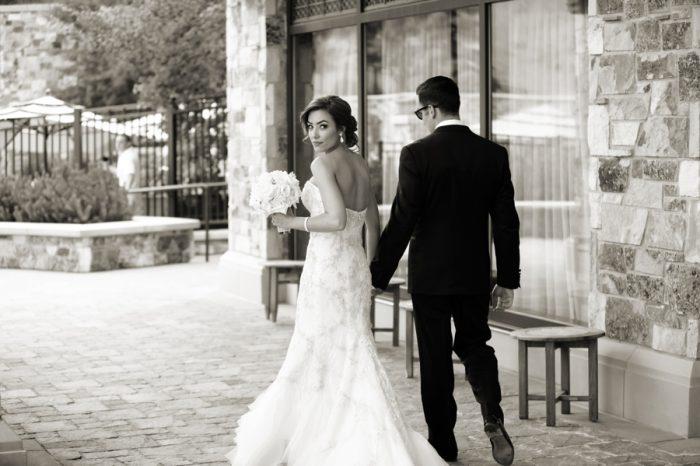 Elegant Bride And Groom| Elegant Park City Wedding St Regis Logan Walker Photography | Via MountainsideBride.com