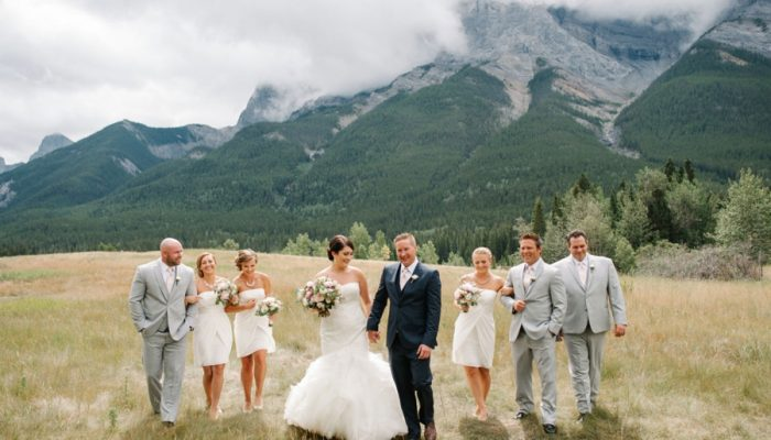 Glittering Gold Mountain Wedding in Canmore