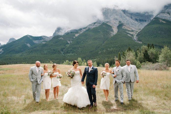 Bridal Party Canmore Mountain Wedding At Silvertip Resort Corrina Walker Photography | Via MountainsideBride.com
