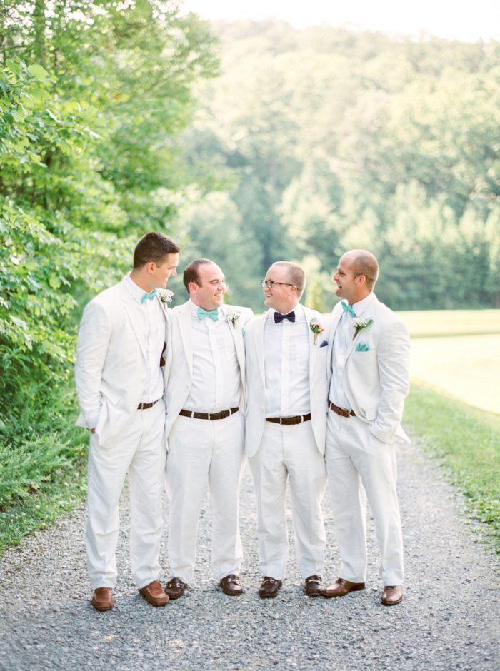 Groomsmen Butterfly Gap Wedding Maryville Tennessee JoPhoto | Via MountainsideBride.com