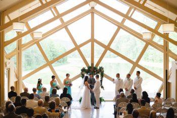 Ceremony Butterfly Gap Wedding Maryville Tennessee JoPhoto   Via MountainsideBride.com