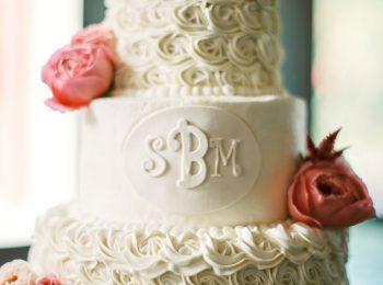 Wedding Cake Butterfly Gap Wedding Maryville Tennessee JoPhoto   Via MountainsideBride.com