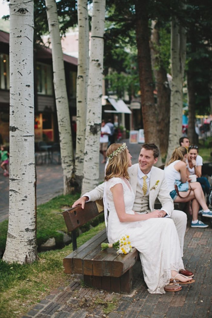 Bride And Groom   Maroon Bells Colorado Elopement   EC Campbell Photography   Via Mountainsidebride.com