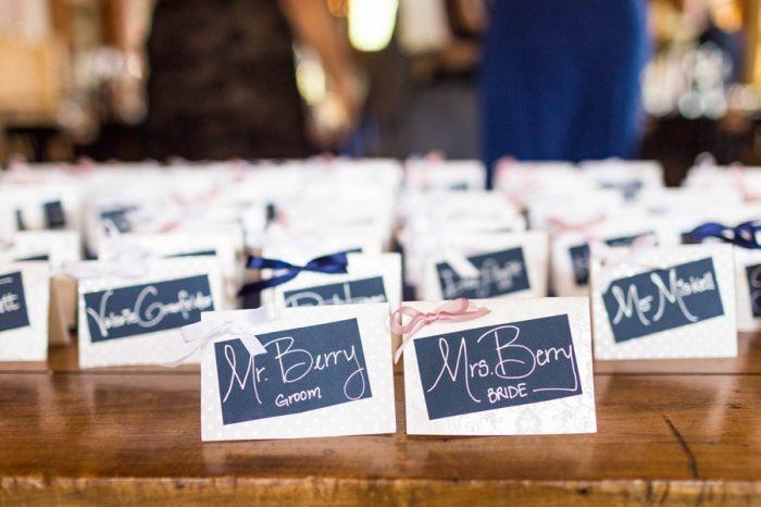 16 Place Cards | Keystone Colorado Wedding Mathew Irving Photography | Via MountainsideBride.com