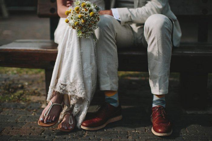 Wedding Shoes | Maroon Bells Colorado Elopement | EC Campbell Photography | Via Mountainsidebride.com