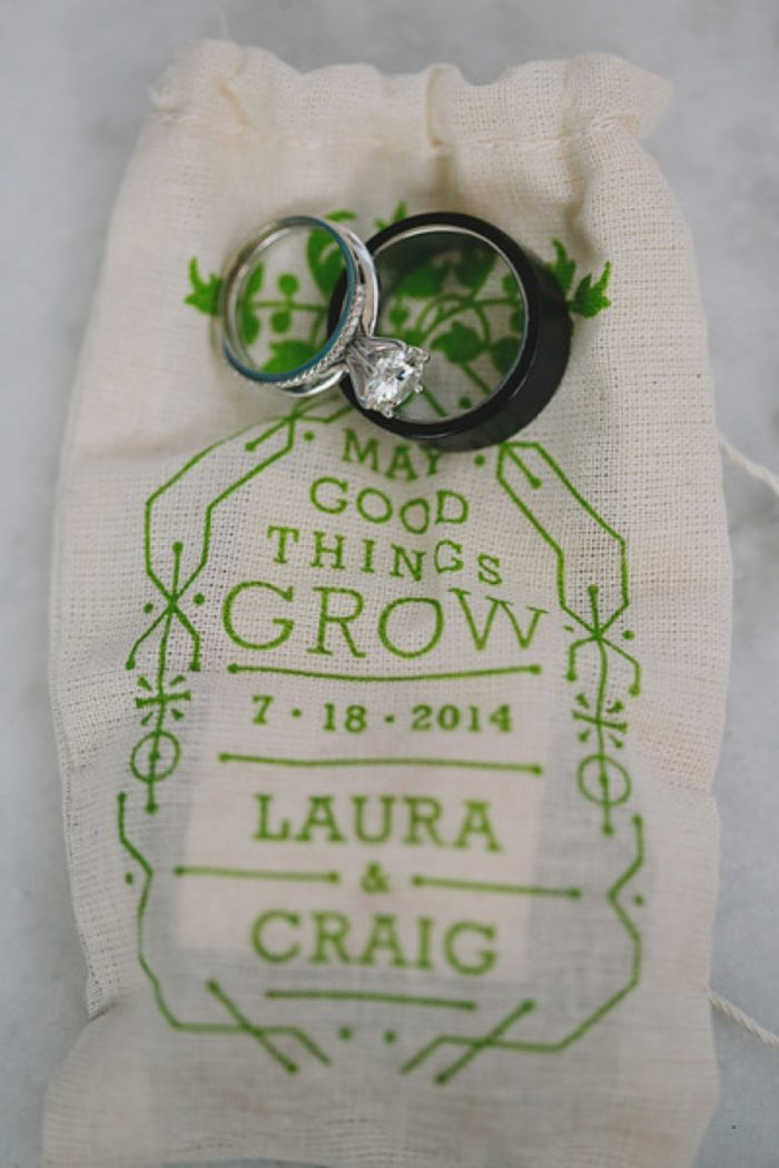 Rings And Favor Bags   Maroon Bells Colorado Elopement   EC Campbell Photography   Via Mountainsidebride.com
