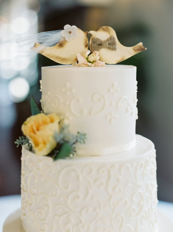 Bird Wedding Cake Topper | Mountain Wedding In Barboursville Virginia By JoPhoto | Via MountainsideBride.com