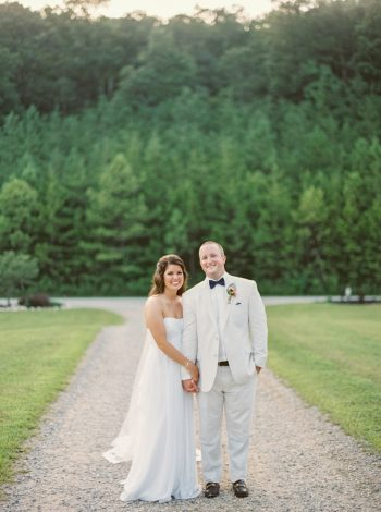 Couple Portraits Butterfly Gap Wedding Maryville Tennessee JoPhoto | Via MountainsideBride.com