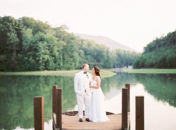 Couple Near Lake Butterfly Gap Wedding Maryville Tennessee JoPhoto   Via MountainsideBride.com