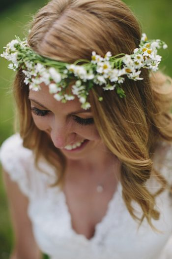 Daisy Flower Crown Maroon Bells Colorado Elopement | EC Campbell Photography | Via Mountainsidebride.com