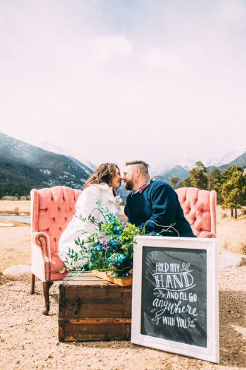 Pop The Champagne Colorado Mountain Engagement | Alchemy Photography Via MountainsideBride.com
