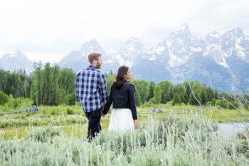 1 Grand Teton National Park Wyoming Engagement   Heather Erson Photography   Via MountainsideBride.com