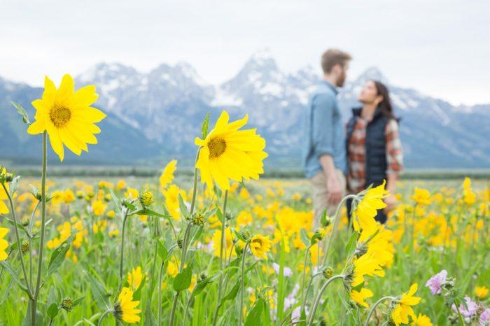 13 Grand Teton National Park Wyoming Engagement | Heather Erson Photography | Via MountainsideBride.com