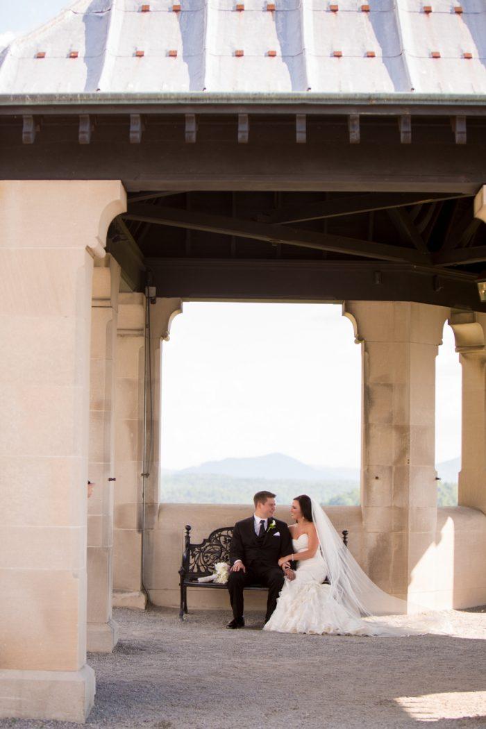 19 Asheville Event Co Bride And Groom Mountain Backdrop | Via MountainsideBride.com