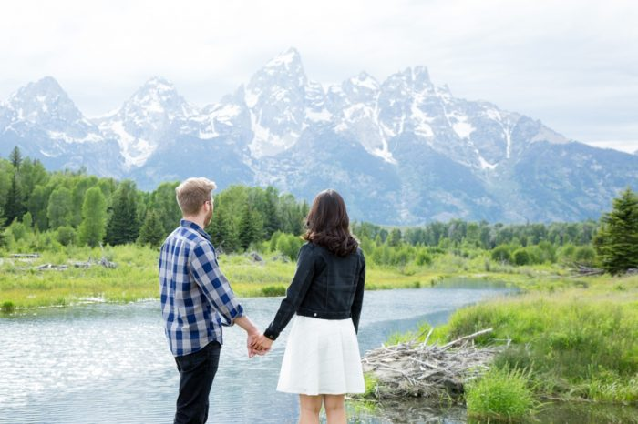2 Grand Teton National Park Wyoming Engagement | Heather Erson Photography | Via MountainsideBride.com