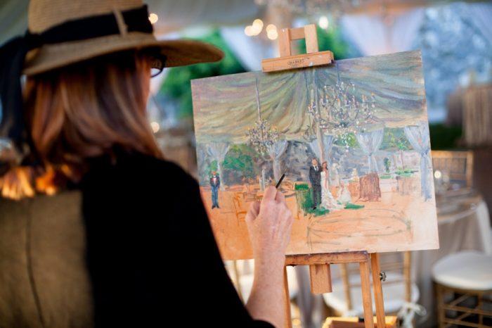 21 Asheville Event Co Artist Painting Reception | Via MountainsideBride.com
