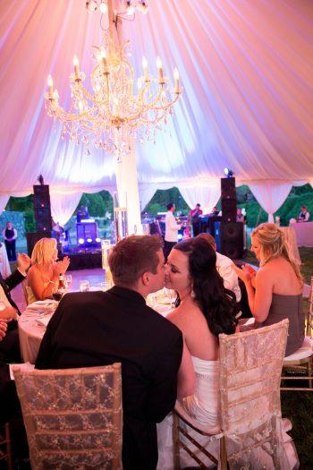29 Asheville Event Co Bride And Groom Reception Kiss | Via MountainsideBride.com