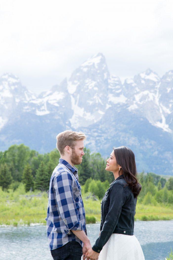3 Grand Teton National Park Wyoming Engagement | Heather Erson Photography | Via MountainsideBride.com