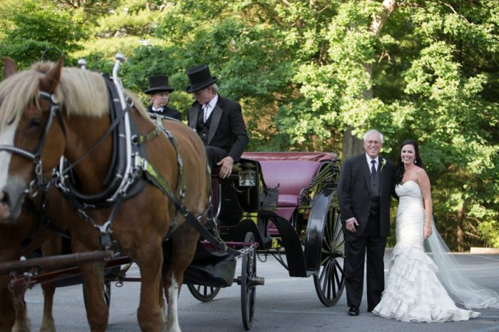 6 Asheville Event Co Bride And FOB With Horse And Carriage | Via MountainsideBride.com