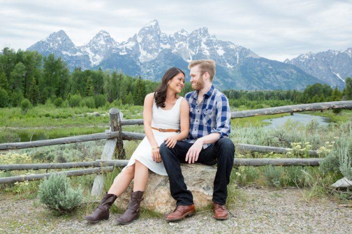 6 Grand Teton National Park Wyoming Engagement | Heather Erson Photography | Via MountainsideBride.com