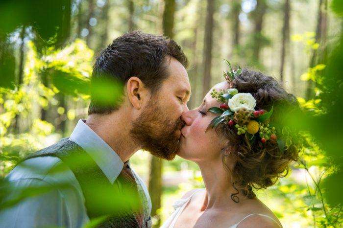 Woodsy Camp Wedding Idaho | Jerome Pollos Photography | Via MountainsideBride.com
