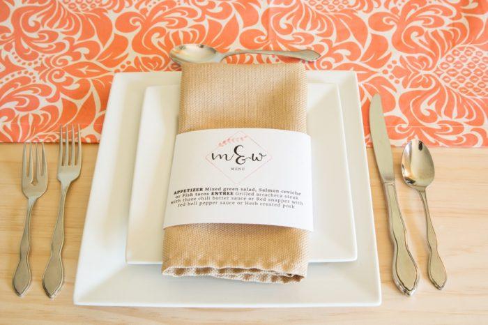 Easy DIY Printable Wedding Menu Belly Bands Epson.jpg