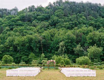 Ceremony Site   Pure Water Farm Wedding Tennessee   JoPhoto   Via MountainsideBride.com