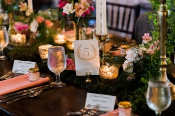 Table Number Cashiers NC Wedding | Parker J Pfister |via Mountainside Bride