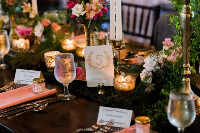 Table Number Cashiers NC Wedding | Parker J Pfister |via Mountainside Bride