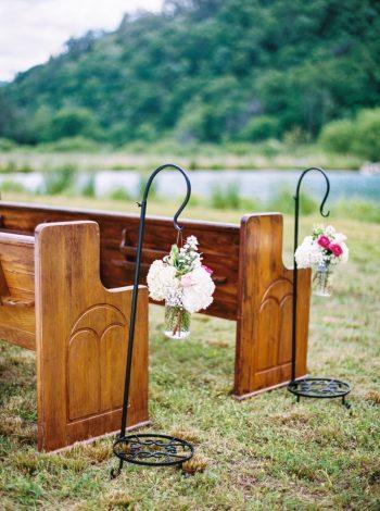 Ceremony Pews   Pure Water Farm Wedding Tennessee   JoPhoto   Via MountainsideBride.com