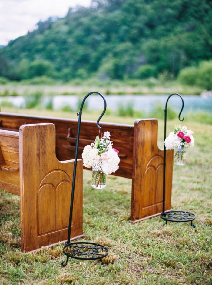 Ceremony Pews | Pure Water Farm Wedding Tennessee | JoPhoto | Via MountainsideBride.com