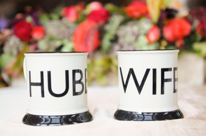 Hub And Wife Mugs Park City Wedding | Pepper Nix Photography | Via MountainsideBride.com