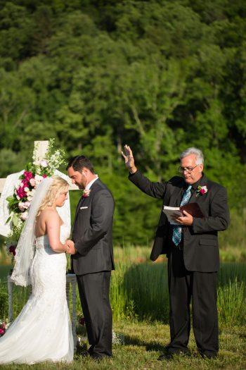Ceremony   Pure Water Farm Wedding Tennessee   JoPhoto   Via MountainsideBride.com
