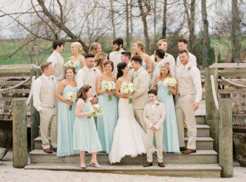 Robins egg blue bridesmaid dresses   Knoxville Wedding Hunter Valley Farm   JoPhoto   Via MountainsideBride.com