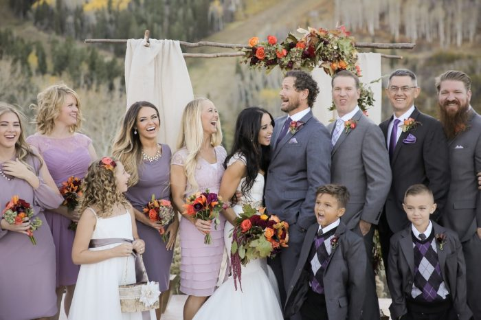 Wedding Party Park City Wedding | Pepper Nix Photography | Via MountainsideBride.com