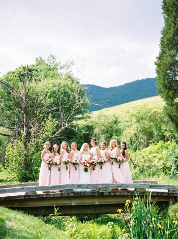 Bridesmaids | Pure Water Farm Wedding Tennessee | JoPhoto | Via MountainsideBride.com