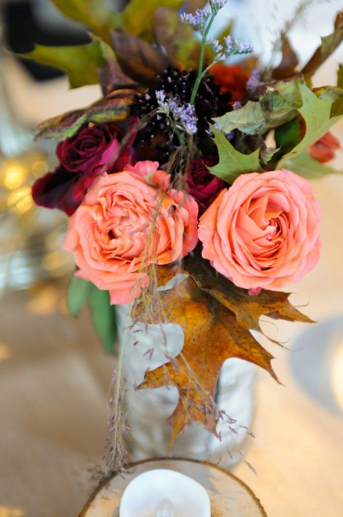 Fall Centerpiece Florals Park City Wedding | Pepper Nix Photography | Via MountainsideBride.com