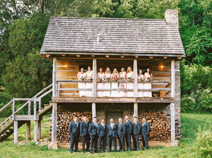 Wedding Party | Pure Water Farm Wedding Tennessee | JoPhoto | Via MountainsideBride.com