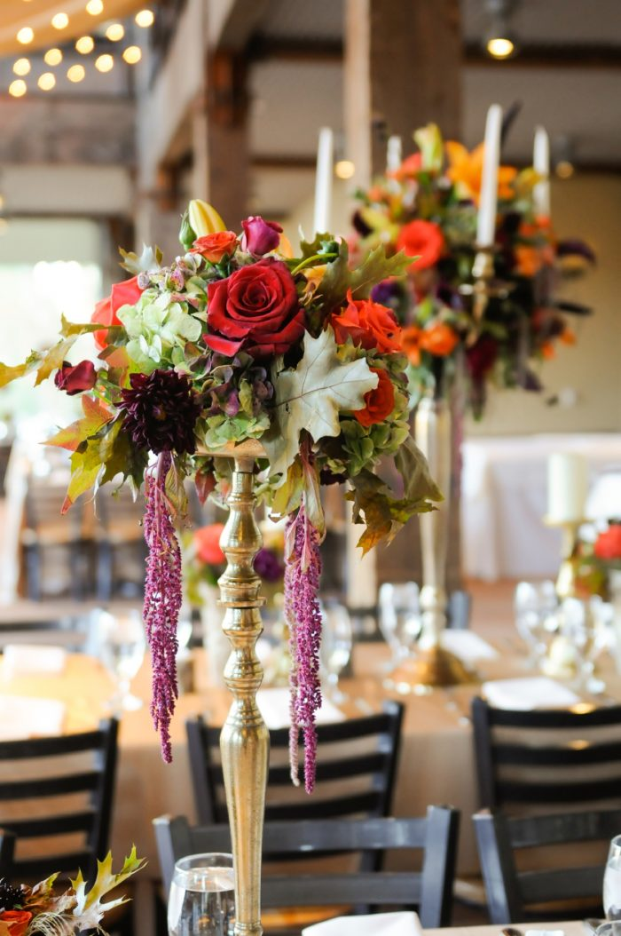 Fall Centerpieces Park City Wedding | Pepper Nix Photography | Via MountainsideBride.com