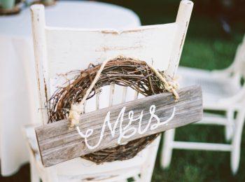 Rustic Mrs Sign   Pure Water Farm Wedding Tennessee   JoPhoto   Via MountainsideBride.com
