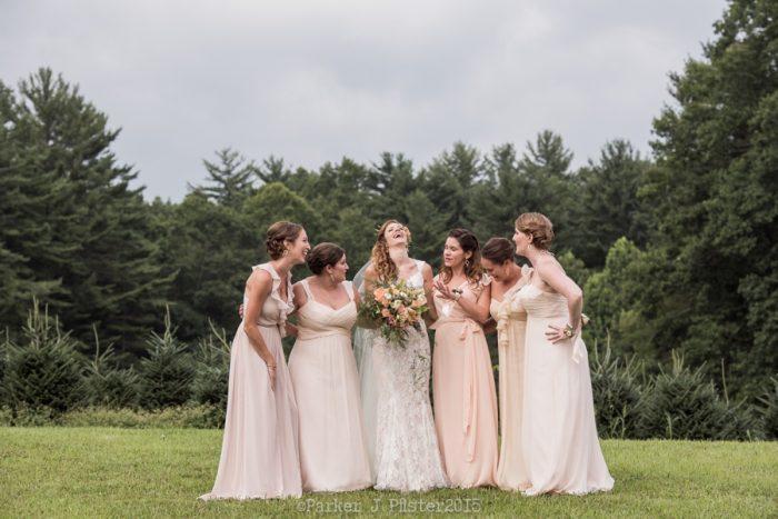 Brideamaids Portraits NC Wedding | Parker J Pfister |via Mountainside Bride
