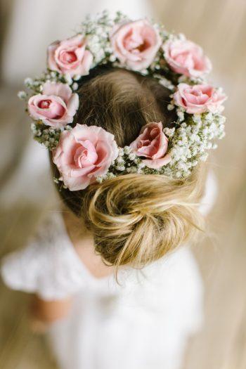 Flower Girl Floral Crown   Pure Water Farm Wedding Tennessee   JoPhoto   Via MountainsideBride.com