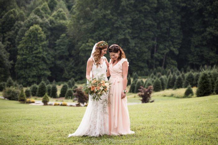 Maid Of Honor Portrait NC Wedding | Parker J Pfister |via Mountainside Bride