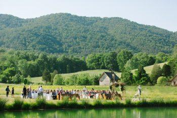 Outdoor Mountain Reception   Pure Water Farm Wedding Tennessee   JoPhoto   Via MountainsideBride.com