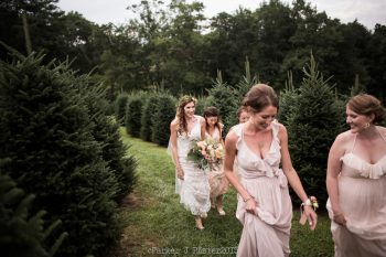 Ceremony Procession Cashiers NC Wedding | Parker J Pfister |via Mountainside Bride