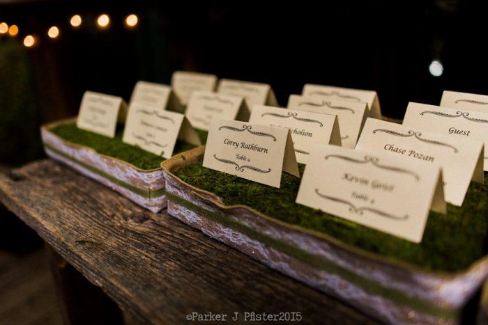 Escort Cards Cashiers NC Wedding | Parker J Pfister |via Mountainside Bride