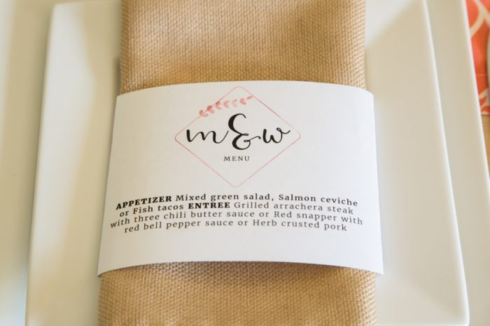 This is an image of Printable Wedding Napkins inside engagement party