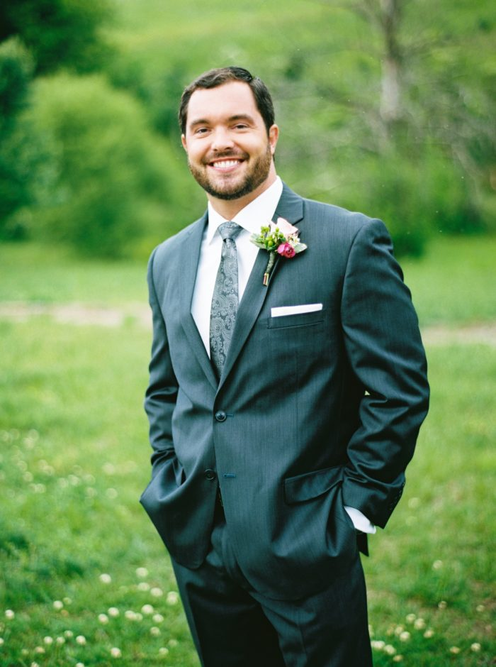 Groom | Pure Water Farm Wedding Tennessee | JoPhoto | Via MountainsideBride.com