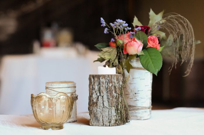 Rustc Fall Centerpiece Park City Wedding | Pepper Nix Photography | Via MountainsideBride.com